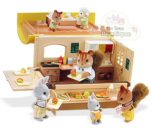 sylvanian families calico critters hamburger wagon. Black Bedroom Furniture Sets. Home Design Ideas