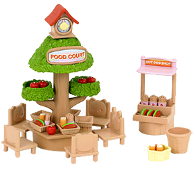 sylvanian families calico critters baby food court. Black Bedroom Furniture Sets. Home Design Ideas