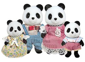 Sylvanian Families/Calico Critters Wilder Panda Bear Family