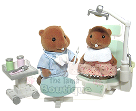 Calico Critters Becky Beaver Visits The Dentist
