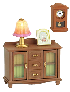 home furniture sylvanian families living room lamp stand shelf set - Sylvanian Families Living Room Set