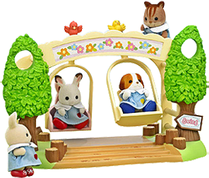 Sylvanian Families Kindergarten Nursery Swing Set
